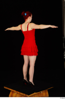 Vanessa Shelby red dress standing t poses whole body 0004.jpg