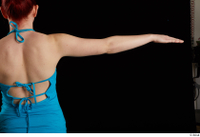 Vanessa Shelby  1 arm back view blue tank top flexing 0003.jpg