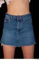 Lady Dee blue jeans skirt hips 0001.jpg