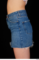 Lady Dee blue jeans skirt hips 0003.jpg