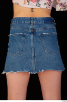 Lady Dee blue jeans skirt hips 0005.jpg