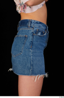 Lady Dee blue jeans skirt hips 0007.jpg