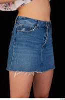 Lady Dee blue jeans skirt hips 0008.jpg