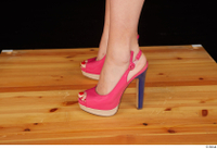 Lady Dee foot pink high heels shoes 0003.jpg