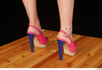 Lady Dee foot pink high heels shoes 0006.jpg