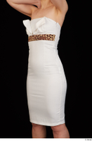 Rania dressed formal hips trunk upper body white dress 0002.jpg