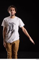 Pablo  1 arm dressed flexing front view white t shirt 0001.jpg