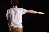 Pablo  1 arm back view dressed flexing white t shirt 0003.jpg