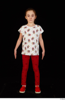 Lilly dressed leggings red shoes standing t shirt trousers whole body 0001.jpg