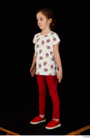 Lilly dressed leggings red shoes standing t shirt trousers whole body 0002.jpg