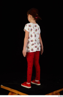 Lilly dressed leggings red shoes standing t shirt trousers whole body 0004.jpg