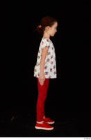 Lilly dressed leggings red shoes standing t shirt trousers whole body 0007.jpg