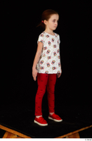 Lilly dressed leggings red shoes standing t shirt trousers whole body 0008.jpg