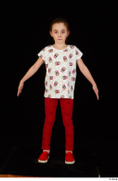 Lilly dressed leggings red shoes standing t shirt trousers whole body 0009.jpg