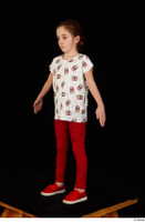 Lilly dressed leggings red shoes standing t shirt trousers whole body 0010.jpg