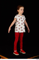 Lilly dressed leggings red shoes standing t shirt trousers whole body 0016.jpg