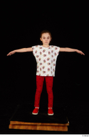 Lilly dressed leggings red shoes standing t shirt t-pose trousers whole body 0001.jpg