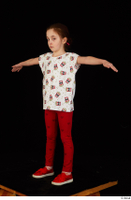 Lilly dressed leggings red shoes standing t shirt t-pose trousers whole body 0002.jpg