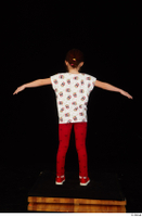 Lilly dressed leggings red shoes standing t shirt t-pose trousers whole body 0005.jpg
