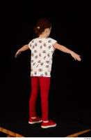 Lilly dressed leggings red shoes standing t shirt t-pose trousers whole body 0006.jpg