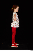 Lilly dressed leggings red shoes standing t shirt t-pose trousers whole body 0007.jpg