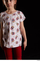 Lilly  1 arm dressed flexing front view t shirt 0001.jpg